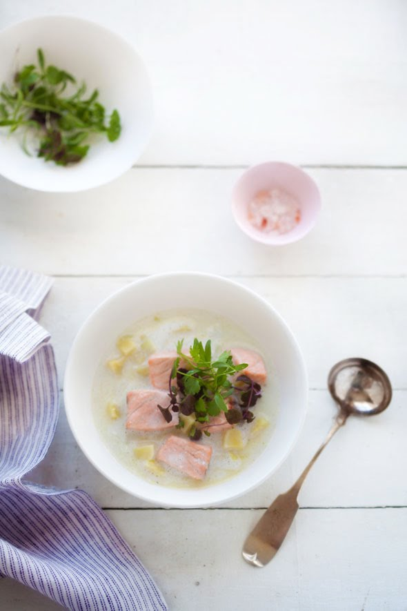 Salmon, Fennel and Parsnip Stew for Two :: Cannelle et Vanille