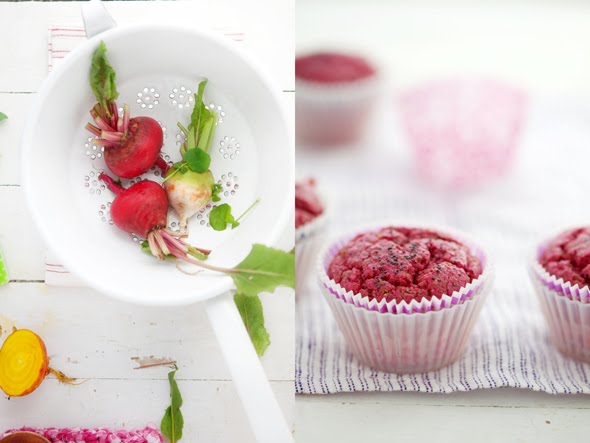 Our new favorite red beet and poppy seed muffins :: Cannelle et ...