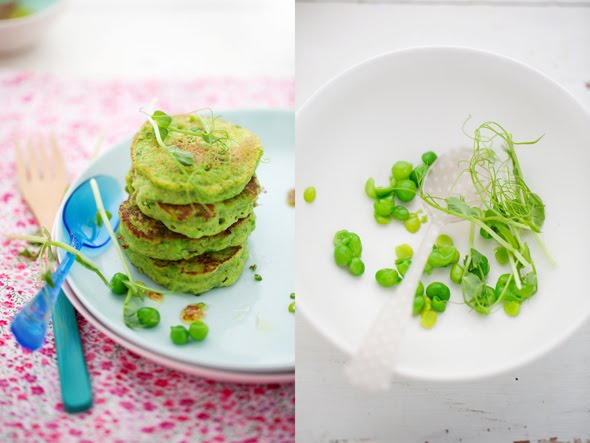 Pea pancakes with smoked salmon and a little green soup :: Cannelle et ...