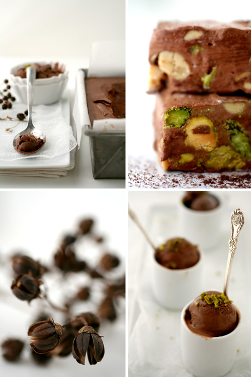 Salted Chocolate, Peanut and Pistachio Nougat Ice Cream :: Cannelle et ...
