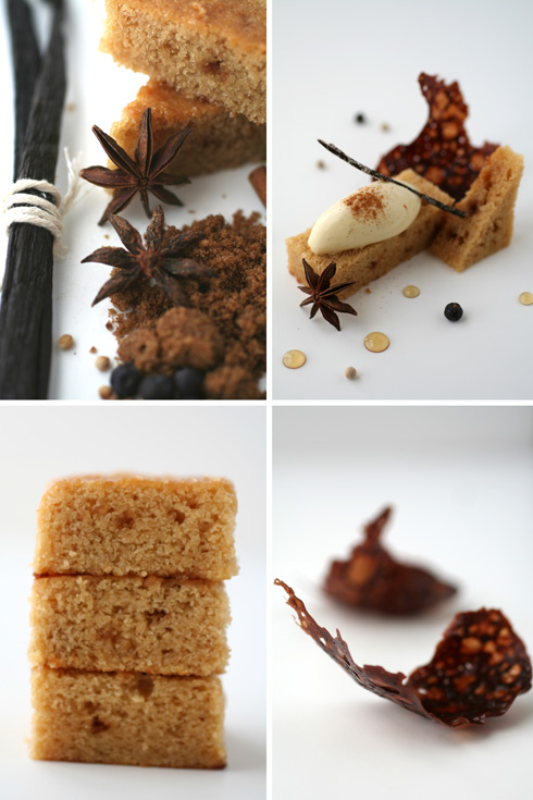 Seven Spice Ice Cream with Yogurt and Brown Sugar Cake ...