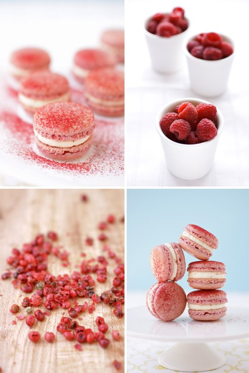 Raspberry And Pink Peppercorn Macarons And A Little ...