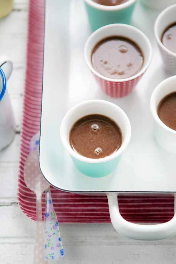 chocolate, hazelnut and fleur de sel pots de crème… a sweet treat
