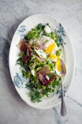 Peas and favas with prosciutto and eggs | Cannelle et Vanille