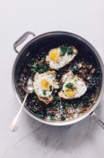 French lentils with kale, mushrooms and eggs | Cannelle et Vanille