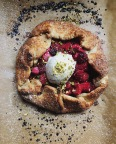 Rhubarb, raspberry and orange flower water galette | Cannelle et Vanille