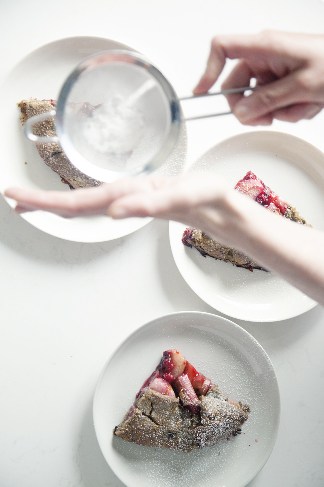 Raspberry, rhubarb and buckwheat galette | Cannelle et Vanille